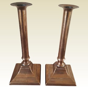 Pair Bronze Georgian late 18th Century Candle Holders
