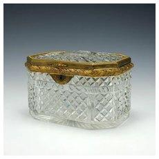 Cut Glass Sugar Box c1800