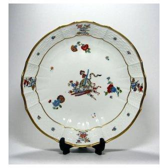 Meissen Gelbe Löwe 'Yellow Lion' Porcelain Dish c1745