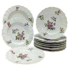 Set Eleven 18th Century Furstenberg Porcelain Plates