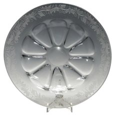18th Century Glass Charger With Engraved Rim