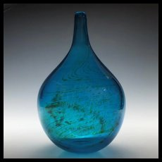Mdina Maltese Blue Glass Vase c1975