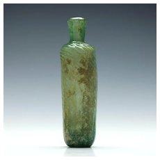 Pale Blue-green Islamic Glass Flask c15th Century AD