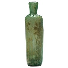 Pale Blue-green Islamic Glass Flask c15th Century AD