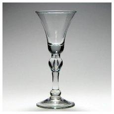 18th Century Baluster Wine Glass c1735