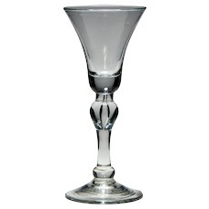 18th Century Baluster Wine Glass c1735