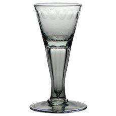 18th Century Hollow Stem Wine Glass c1760