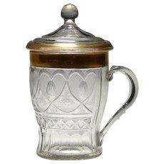 Rare Bohemian Lidded Tankard c1790-1820