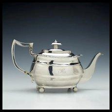 George III Silver Teapot London c1814