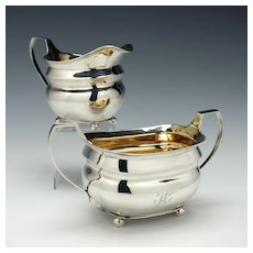 Silver Sucrier and Cream Jug London 1808