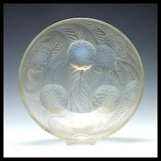 Rene Lalique Opalescent Dahlias Glass Bowl 1921