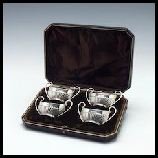 Set of Victorian Salts And Case, Sheffield 1900