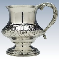 Unusual Georgian Silver Tankard London 1824