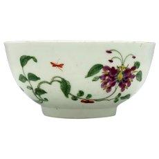 Worcester Honeysuckle Pattern Slop Bowl c1770