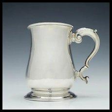 Georgian Silver Pint Tankard London 1752