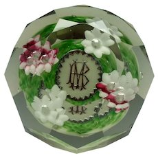 Bohemian Magnum Size Glass Paperweight c1900