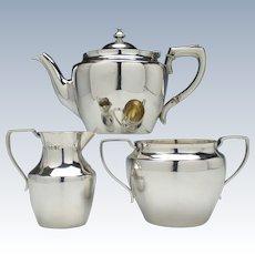 Victorian Silver Tea Service London c1880