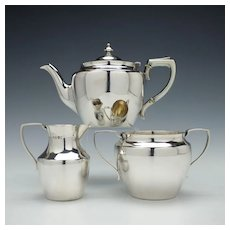 Victorian Sterling Silver Tea Service London c1880