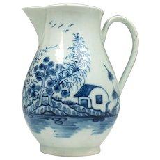 Worcester Rock Strata Island Pattern Milk Jug c1770-80