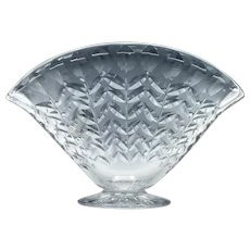 Webb Corbett Crystal Fan Vase 1930-40