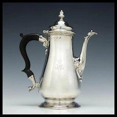 George II Silver Coffee Pot London 1756
