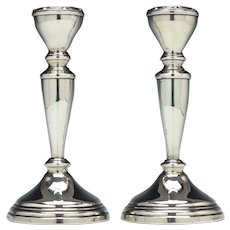 Two Silver Candle Sticks Birmingham 1963-64