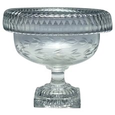 Irish Cut Glass Standing Bowl c1820