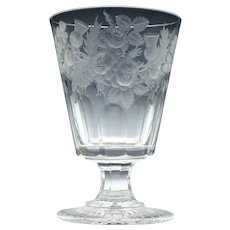 Large Rummer Glass Of Nautical Interest c1846