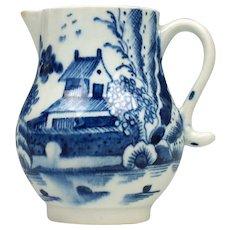 Lowestoft Porcelain House and Landscape Pattern Jug c1790