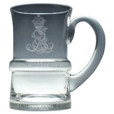 Limited Edition Edward VIII Coronation Glass Tankard c1937 Number 2363