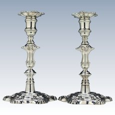 Pair Silver George III Candle Sticks Sheffield 1827