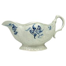 John Pennington Liverpool Porcelain Moulded Sauceboat c1775