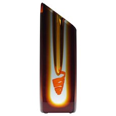 Signed Pavel Havelka Studio Glass Vase