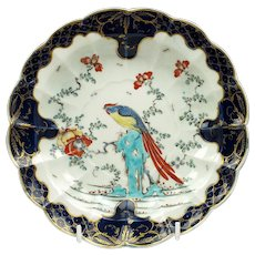 First Period Worcester Sir Joshua Reynolds Pattern Plate c1770