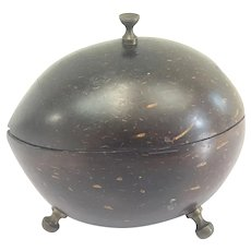 George III coconut box - Bronze - Approx. 1800