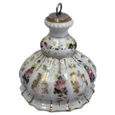 Porcelain inkwell with silver-plated stopper - Porcelain, Silver-plated - Approx. 1900 - United Kingdom