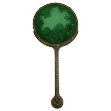Curt Schlevogt (1869-1959) - Mirror - United Kingdom - Circa. 1930 - Copper, Filligrain, Malachite glass