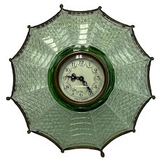 Glass umbrella clock - Artistic - Desk clock - Glass - Approx. 1940