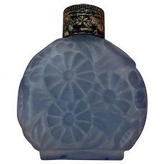 Perfume bottle of frosted glass - Glass - Approx. 1920