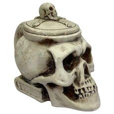 French Tobacco jar - skull - - Gypsum - Second half 20th century