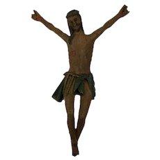 Polychrome crucifix - Wood - France - 1900-1924