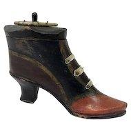 Snuff box / snuffbox in the shape of a boot - Wood - United Kingdom - 1800-1849