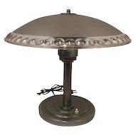 Art deco lamp - pressed glass shade - ca. 1920 - France