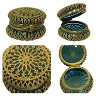 Jewelery box with gilded case - Glass - France - 1875-1899