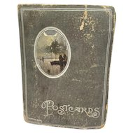"""England - Approx. 1929 - 104 """"best wishes"""" postcards in album"""
