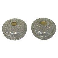 Val St. Lambert - crystal bonbonnière - 2 pieces