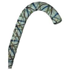 Soldier Cane - Walking stick - Glass - 19th century