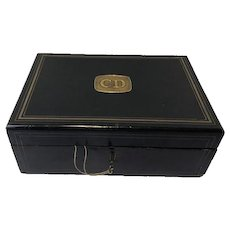 Napoleon III box + contents (jewelry) - Wood, Brass - Approx. 1880 - France