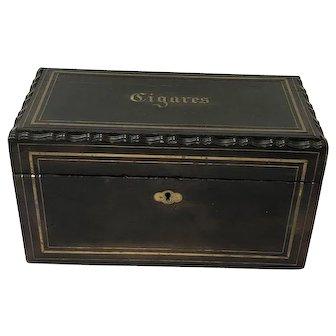 Napoleon III cigar box - Wood, Brass - Ca. 1880 - France