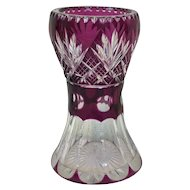 Bohemian purple vase with engraving - Ca. 1930, Czech Republic
